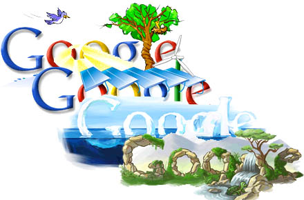 Logo Google na Earth Day od 2005 do 2008