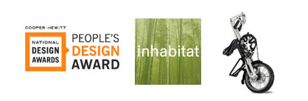 Logo Pople's Design Award, Inhabitat i Strida