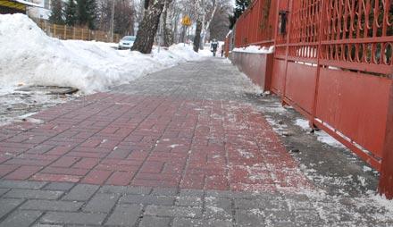 Nadmierne solenie chodników