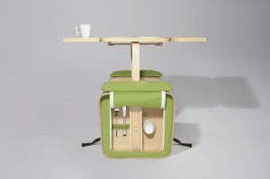 rowerowy stolik piknikowy
