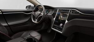 Tesla Model S - wnętrze samochodu