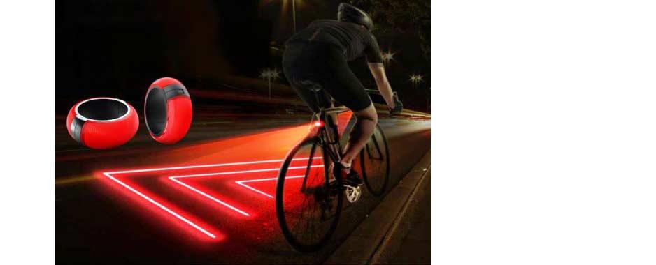 Oświetlona strefa bezpieczeństwa wokół roweru