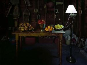 Lampa z owoców i warzyw