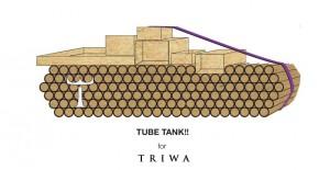 Tekturowy czołg - stoisko