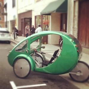Elektryczny rower poziomy