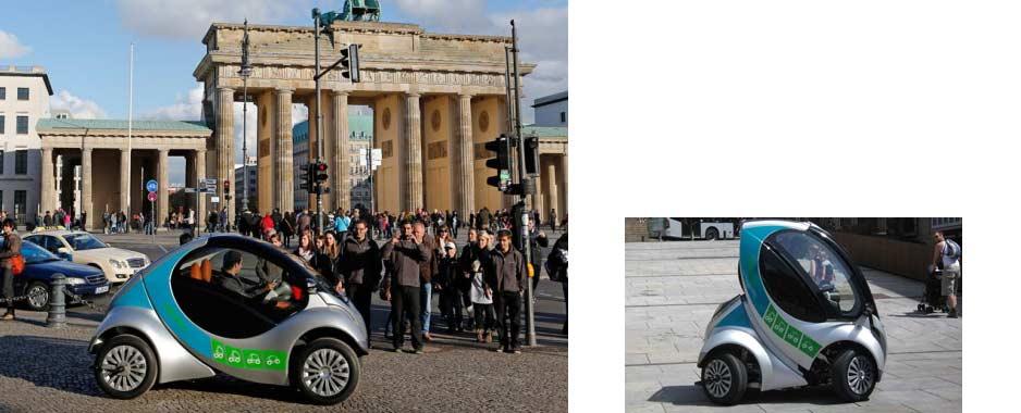 Składany miejski samochód elektryczny