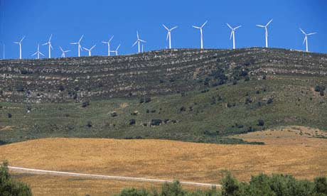 Farma wiatrowa w Andaluzji