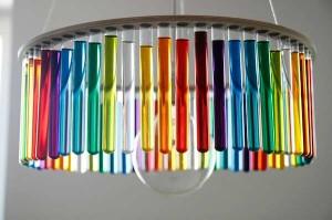 Tęczowa lampa z probówek