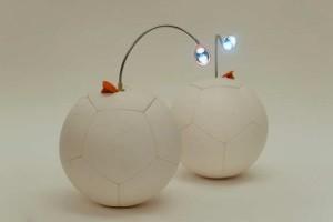 Lampka LED zasilana z piłki nożnej