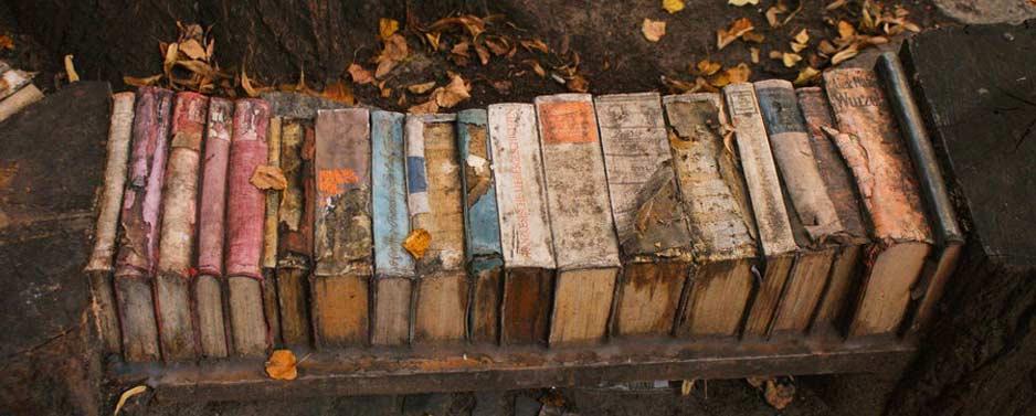 Ławka z książek