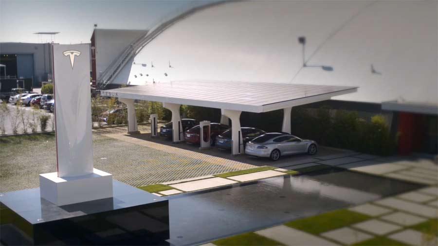 Stacja ładownia Tesla Supercharger