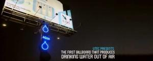 Billboard odzyskujący wodę z powietrza
