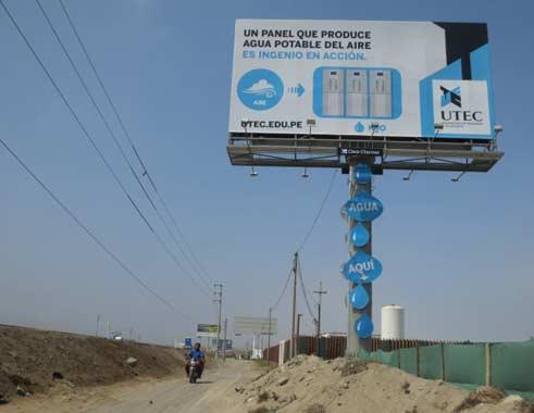 Billboard odzyskujacy wodę z powietrza