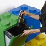 Kosz na śmieci w kształcie klocków Lego