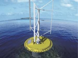 Połączenie turbiny wodnej i wiatrowej SKWID
