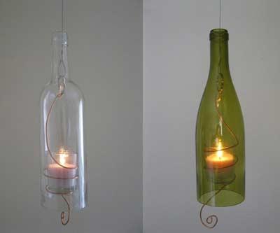 Lampion z butelki - jak obciąć butelkę