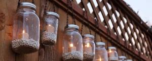 Lampiony ze słoików
