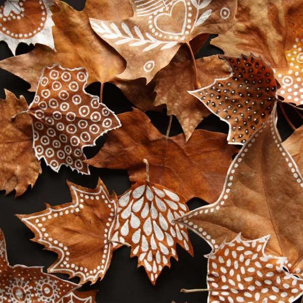 Malowane liście jesienne