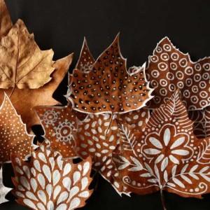 Malowane jesienne liście