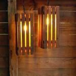 Żyrandol lampa z palet