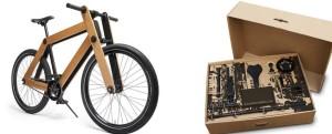 Drewniany rower składany