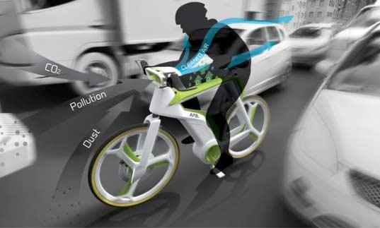 Rower który oczyszcza powietrze