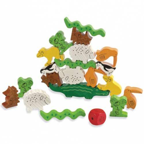 Drewniane zwierzęta Haba Gra zwierzak na zwierzaku