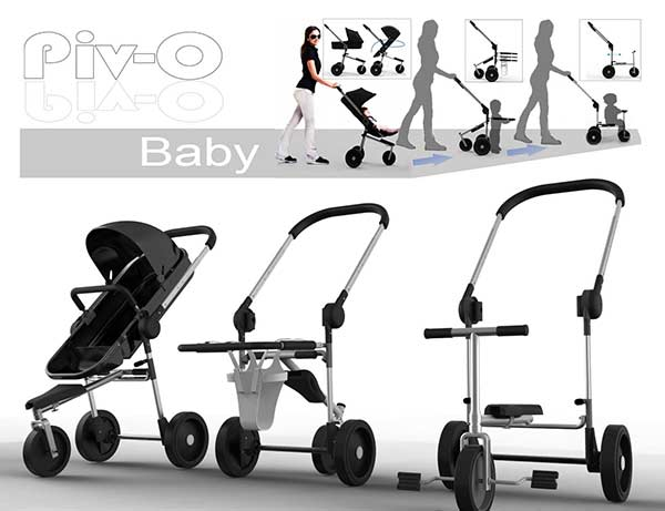 Nowoczesny wielofunkcyjny wózek dziecięcy