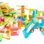Drewnane klocki zestaw magnetyczne