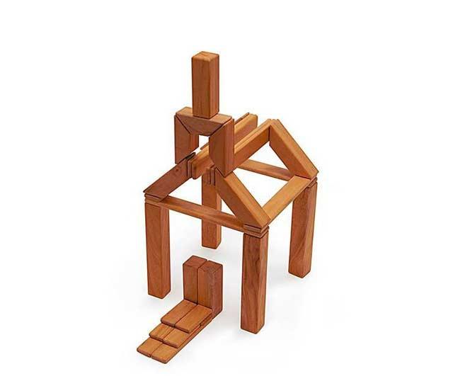 Drewniane klocki magnetyczne
