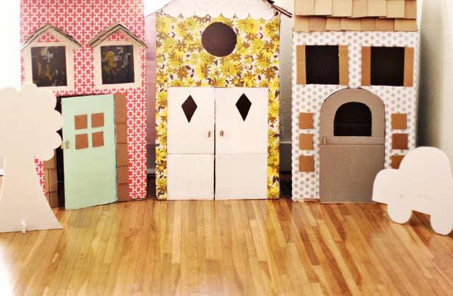 Domki z pudeł kartonowych