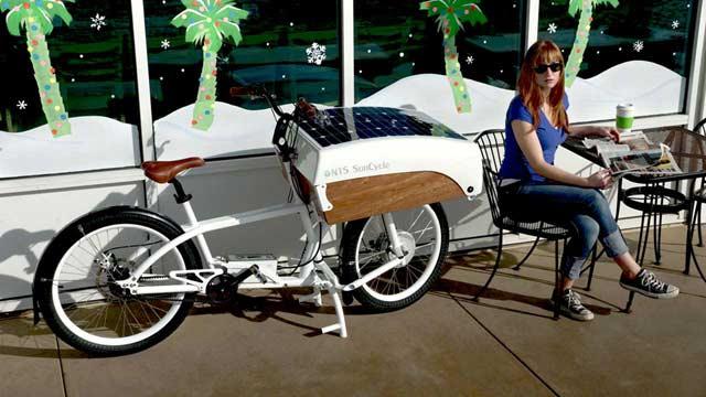 Rower towarowy na baterie słoneczne
