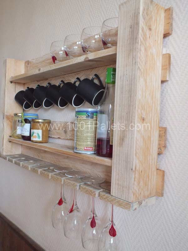 Półka kuchenna z palet
