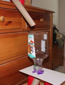 Kulodrom z rolek po ręcznikach