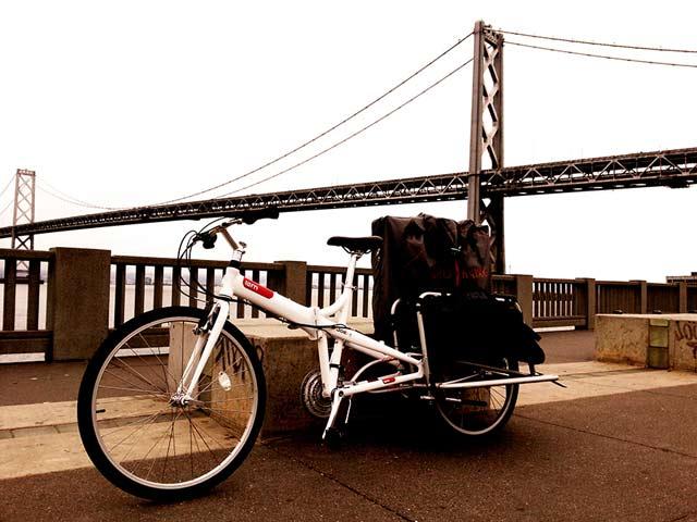 Kajak składany na rowerze Xtracycle