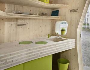 Drewniany domek dla studenta