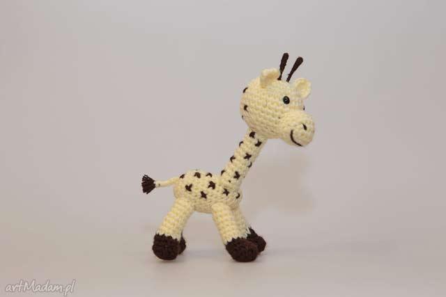 Żyrafa zabawka ekologiczna szydełkowa