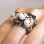 Pierścionek biżuteria ptaki