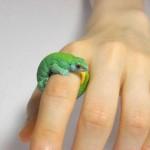 Pierścionek biżuteria jaszczurka