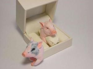 Pierścionek prosiaczek świnka