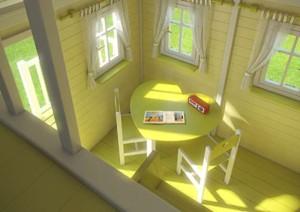 Drewniany domek do zabawy