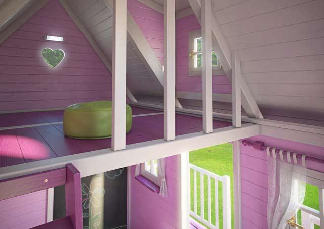 Drewniany domek ogrodowy