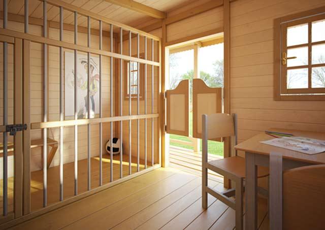 Domek szeryfa drewniany dżepetto