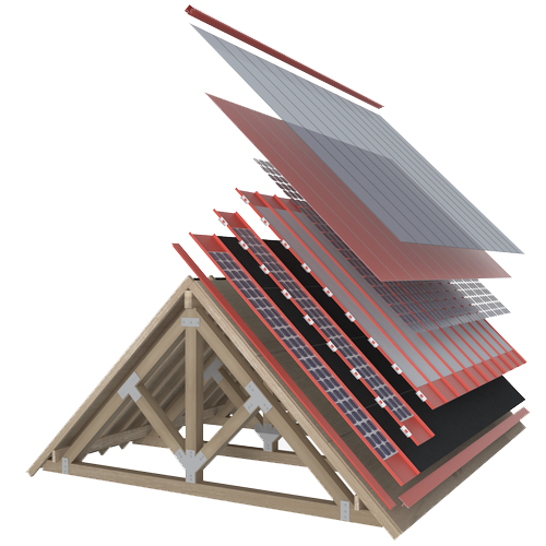 Solarny dach - warstwy