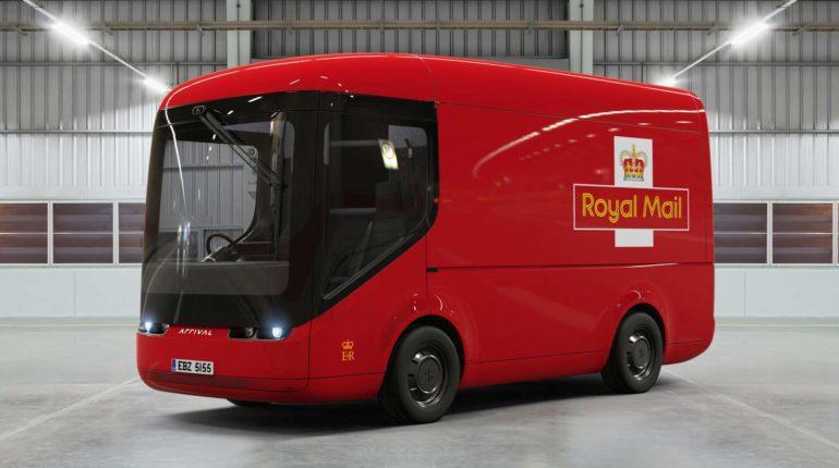 Elektryczna ciężarówka pocztowa